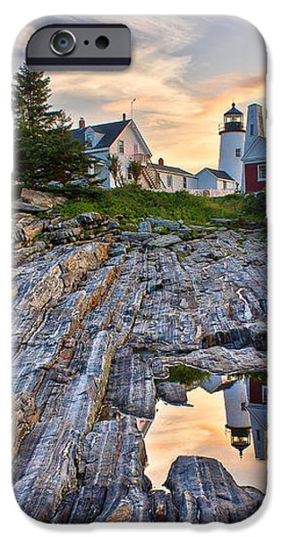 Pemaquid Lighthouse Reflection iPhone Case by Benjamin Williamson