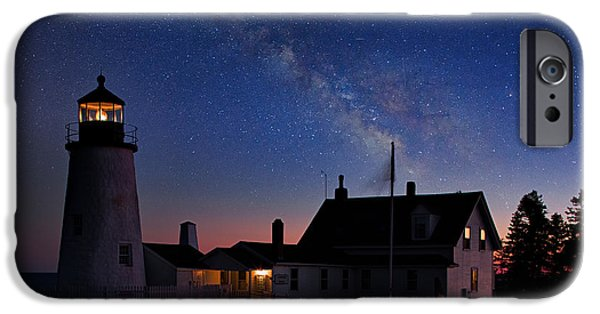 Pemaquid Lighthouse iPhone Cases - Pemaquid Point Light iPhone Case by Emmanuel Panagiotakis