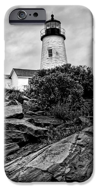 Pemaquid Lighthouse iPhone Cases - Pemaquid Point iPhone Case by Nikolyn McDonald