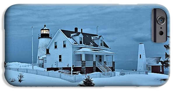 Winter In Maine iPhone Cases - Pemaquid Point_0053 iPhone Case by Joseph Marquis