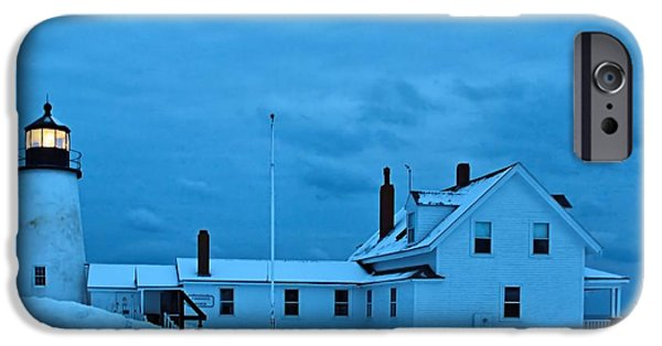 Winter In Maine iPhone Cases - Pemaquid Point_0077 iPhone Case by Joseph Marquis