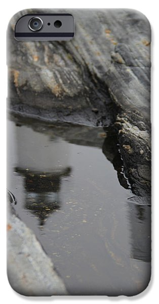 Pemaquid Lighthouse iPhone Cases - Pemaquid Reflections iPhone Case by Becca Brann