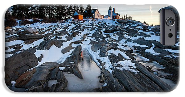 New England Lighthouse iPhone Cases - Pemaquid rocks iPhone Case by Don Seymour