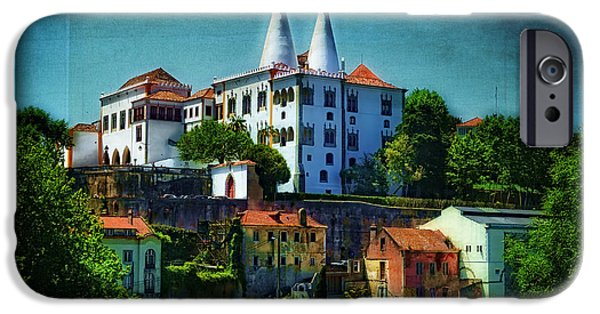 19th Century Digital Art iPhone Cases - Pena National Palace - Sintra iPhone Case by Mary Machare