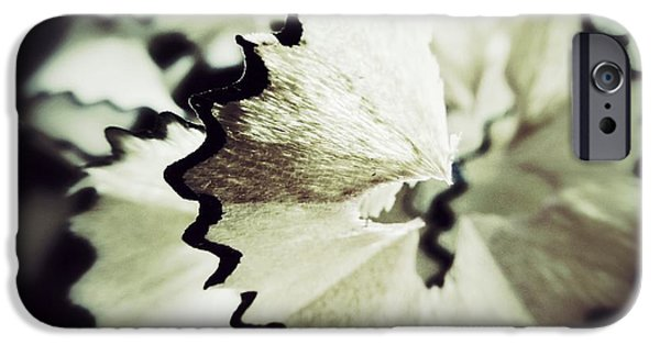 Abstract Expressionist Photographs iPhone Cases - Pencil Shaving 3 iPhone Case by Marianna Mills