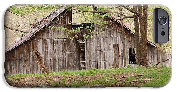 Old Barns iPhone Cases - Pendleton County Barn iPhone Case by Randy Bodkins