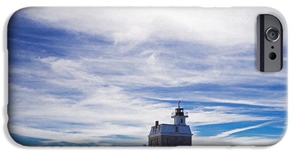 Lighthouse iPhone Cases - Penfield Reef Lighthouse Fairfield Connecticut iPhone Case by Stephanie McDowell