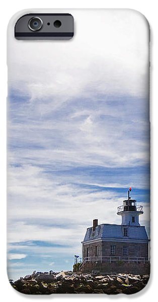 Penfield Reef Lighthouse Fairfield Connecticut iPhone Case by Stephanie McDowell