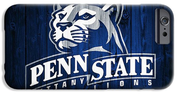 Universities Mixed Media iPhone Cases - Penn State Barn Door iPhone Case by Dan Sproul