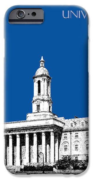 Universities Digital iPhone Cases - Penn State University - Royal Blue iPhone Case by DB Artist