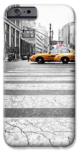 Penn Station Yellow Taxi iPhone Case by John Farnan
