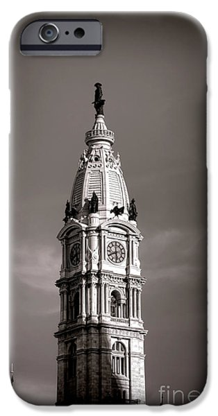Philadelphia City Hall iPhone Cases - Penn Watching iPhone Case by Olivier Le Queinec