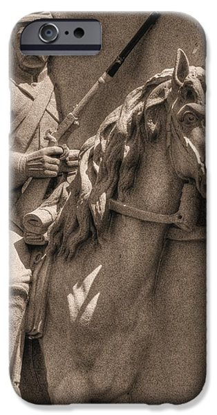 Battle Of Franklin iPhone Cases - Pennsylvania at Gettysburg - 17th PA Cavalry Regiment - First Day of Battle iPhone Case by Michael Mazaika