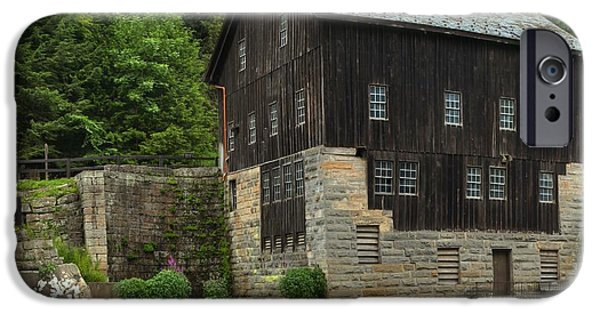 Grist Mill iPhone Cases - Pennsylvania Grist Mill Waterfalls iPhone Case by Adam Jewell