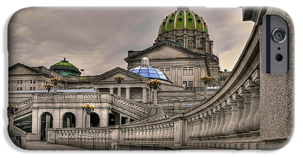 Lois Bryan iPhone Cases - Pennsylvania State Capital iPhone Case by Lois Bryan