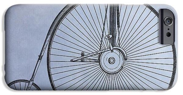 Transportation Mixed Media iPhone Cases - Penny Farthing Bicycle iPhone Case by Dan Sproul