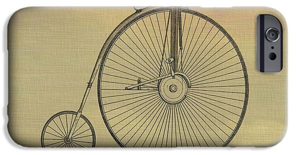 Transportation Mixed Media iPhone Cases - Penny Farthing Poster iPhone Case by Dan Sproul