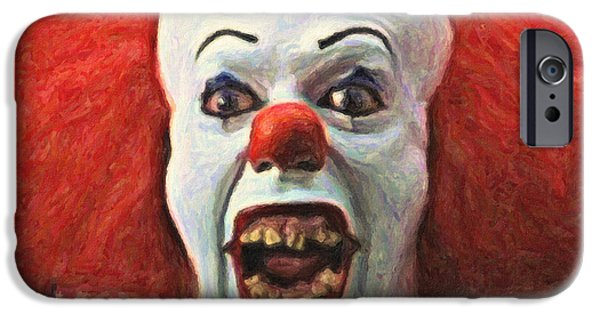 Tim Paintings iPhone Cases - Pennywise the Clown iPhone Case by Taylan Soyturk