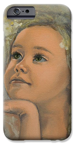 Pensive - Angel 22 iPhone Case by Dorina  Costras