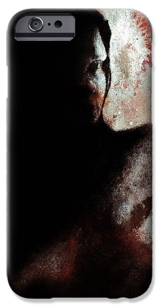 Multimedia iPhone Cases - Pensive iPhone Case by Michael Cross