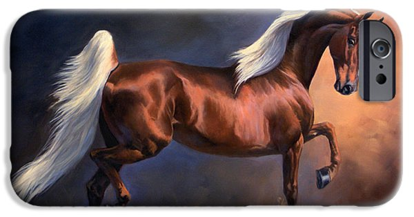 American Saddlebred iPhone Cases - Pentagon iPhone Case by Jeanne Newton Schoborg
