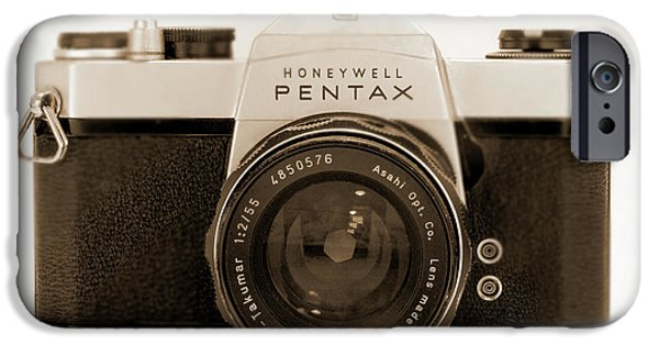 35mm iPhone Cases - Pentax Spotmatic IIa Camera iPhone Case by Mike McGlothlen