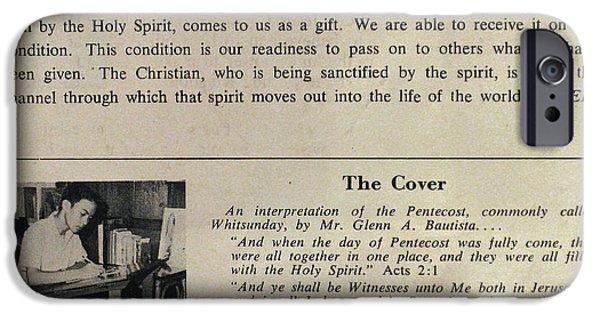 Pentecost iPhone Cases - Pentecost by Glenn 1965 iPhone Case by Glenn Bautista