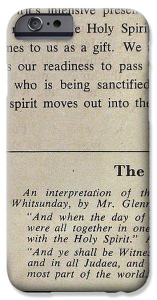 Pentecost by Glenn 1965 iPhone Case by Glenn Bautista
