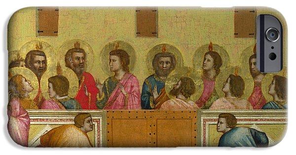 Pentecost iPhone Cases - Pentecost iPhone Case by Giotto di Bondone