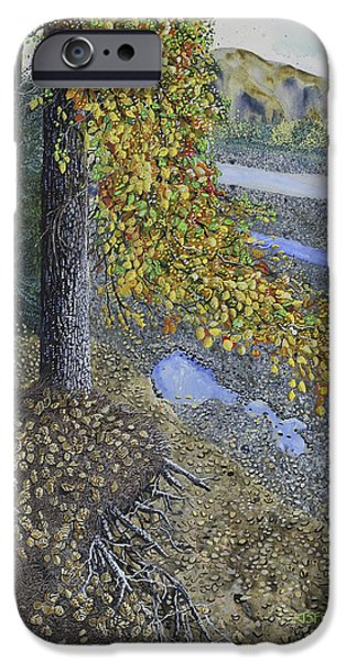 Fall Of River Paintings iPhone Cases - Pentecost iPhone Case by J S  Ferguson