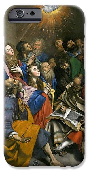 Pentecost iPhone Cases - Pentecost iPhone Case by Juan Bautista Maino