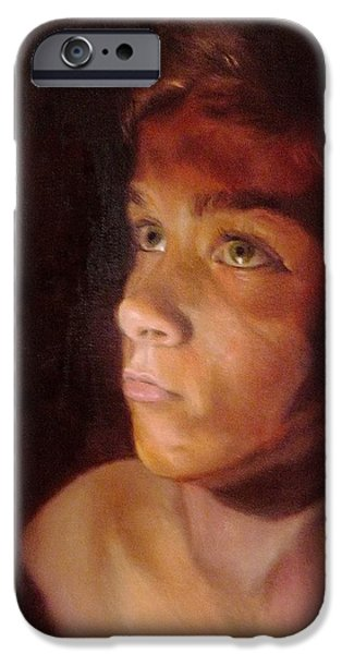Young Paintings iPhone Cases - Penumbra iPhone Case by Cherise Foster