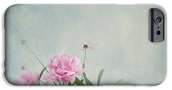 Decorativ iPhone Cases - Peonies still life iPhone Case by Artskratches