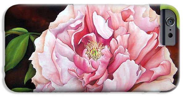 Garden Tapestries - Textiles iPhone Cases - Peony Garden iPhone Case by Tina Gleave