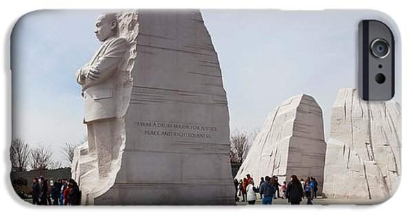 Martin Luther King Jr iPhone Cases - People At Martin Luther King Jr iPhone Case by Panoramic Images