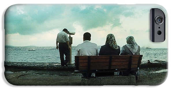 Operating iPhone Cases - People Looking Out On The Bosphorus iPhone Case by Panoramic Images