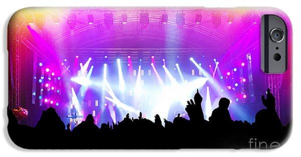 Applaud iPhone Cases - People on music concert disco party iPhone Case by Michal Bednarek