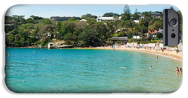 Watson iPhone Cases - People On The Beach, Camp Cove, Watsons iPhone Case by Panoramic Images