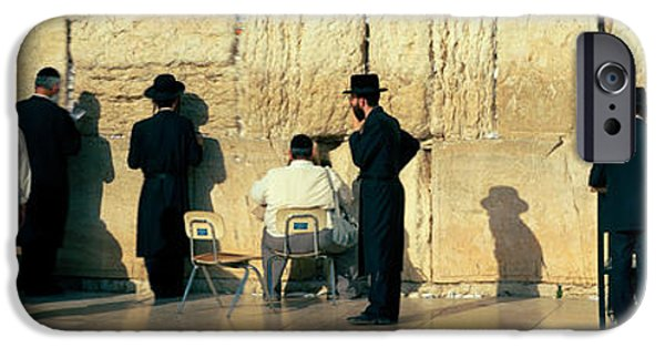 Israeli iPhone Cases - People Praying At Wailing Wall iPhone Case by Panoramic Images