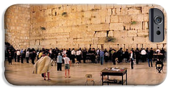 Israeli iPhone Cases - People Praying In Front Of The Western iPhone Case by Panoramic Images