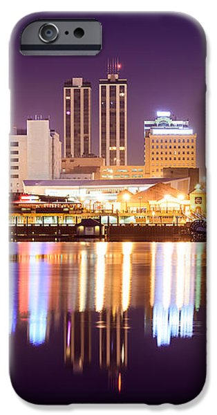 Peoria Illinois at Night Downtown Skyline iPhone Case by Paul Velgos