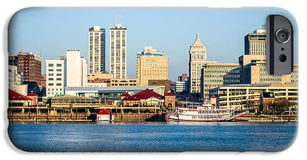 Business iPhone Cases - Peoria Skyline and Downtown City Buildings iPhone Case by Paul Velgos