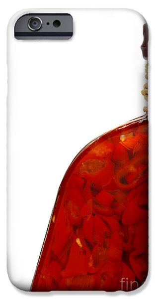 Chili iPhone Cases - Pepper Skelter iPhone Case by Olivier Le Queinec