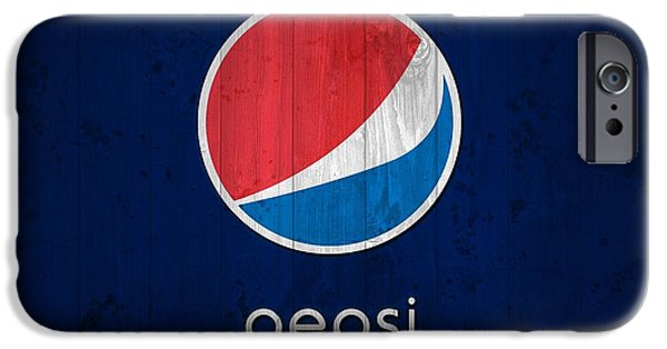 Old Barns iPhone Cases - Pepsi Barn Sign iPhone Case by Dan Sproul