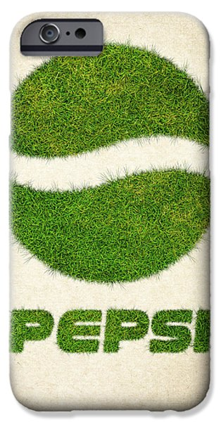 Fanatic iPhone Cases - Pepsi Grass Logo iPhone Case by Aged Pixel