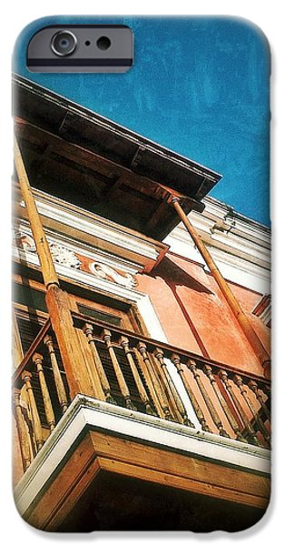 Balcony Digital Art iPhone Cases - Perched iPhone Case by Olivier Calas