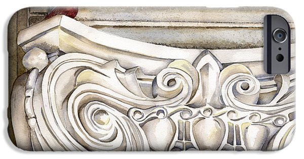 Greek Sculpture Paintings iPhone Cases - Perched iPhone Case by Patti Bishop