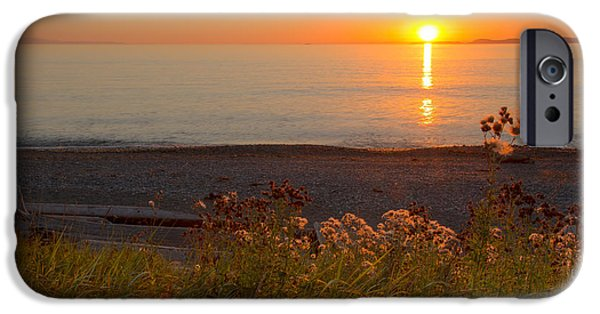 Ocean Sunset iPhone Cases - Perfect Day iPhone Case by Idaho Scenic Images Linda Lantzy