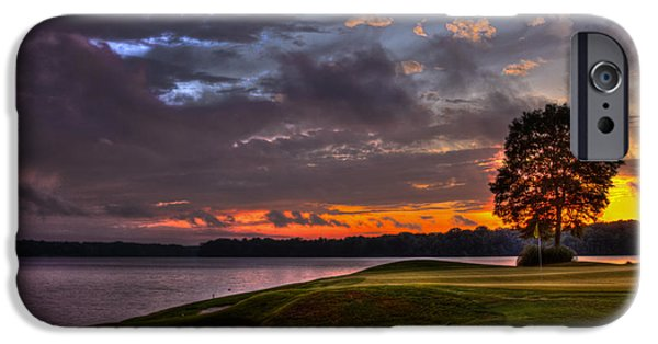 The Tiger iPhone Cases - Perfect Golf Sunset in Reynolds Plantation iPhone Case by Reid Callaway