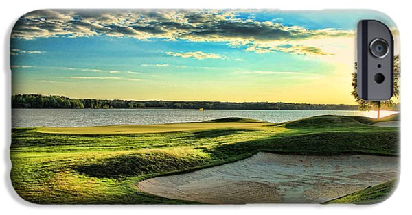 Sunset At The Lake iPhone Cases - Perfect Golf Sunset iPhone Case by Reid Callaway